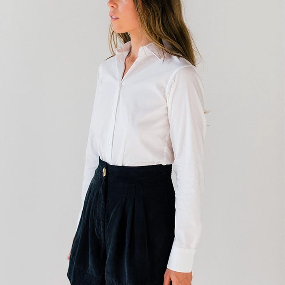 Women's White Service Dress Shirt