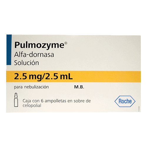PULMOZYME 2.5MG/2.5ML C/6 AMP