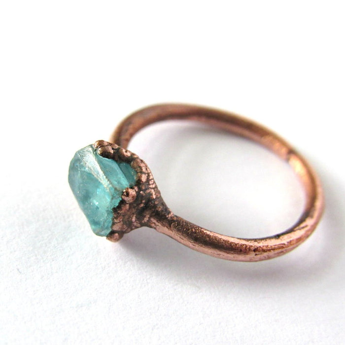 Crystal Ring, Aquamarine ring, Apatite Ring