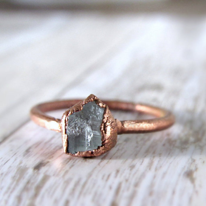 Crystal Ring, Stacking Ring, Quartz Crystal Ring, Bohemian Ring,