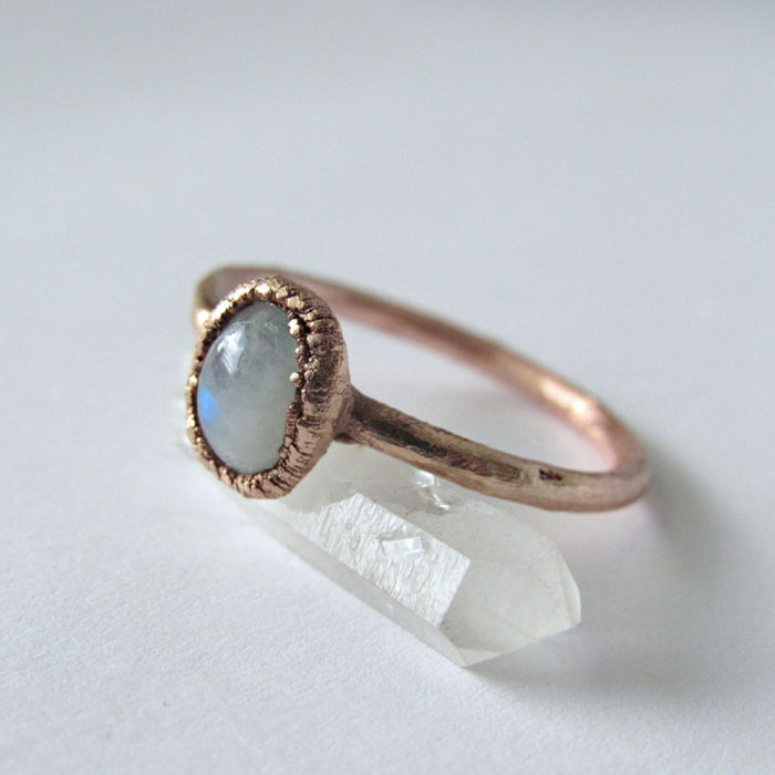 Moonstone ring | Stacking ring | Moonstone stacking ring