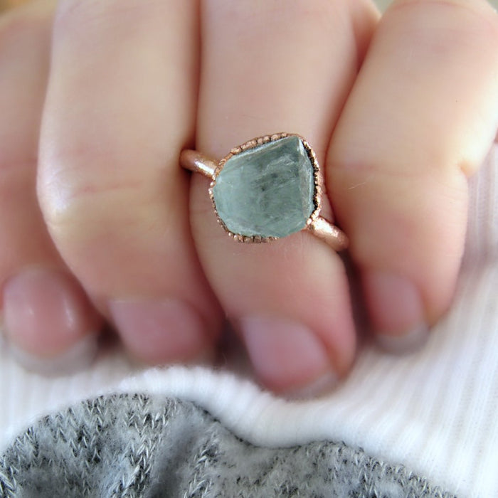 Raw Fluorite ring | Crystal ring | Fluorite Ring