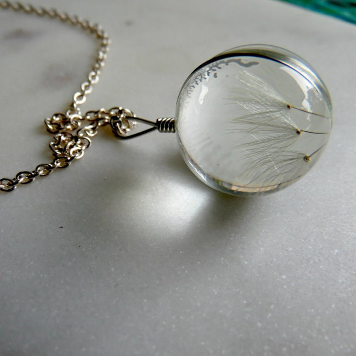 DANDELION GLOBE NECKLACE