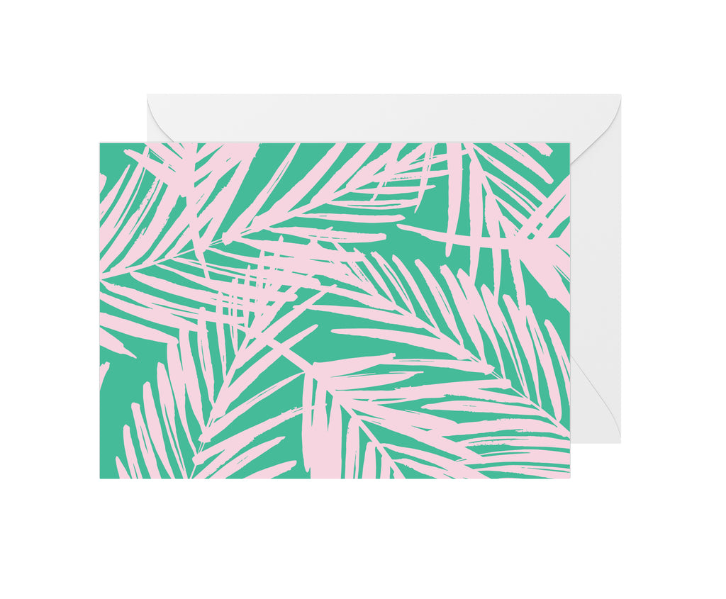 Tropical Leaves Blank Card