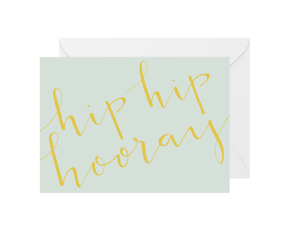 Hip Hip Hooray Gold Foil