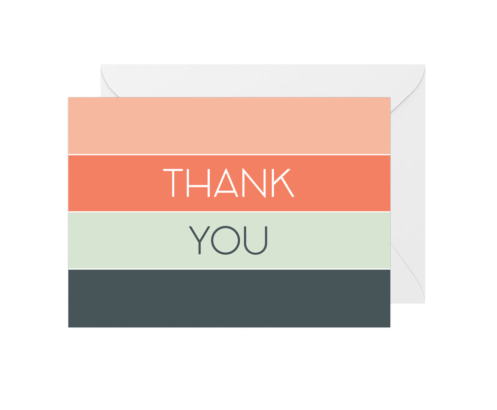 Thank You Card - Stripes
