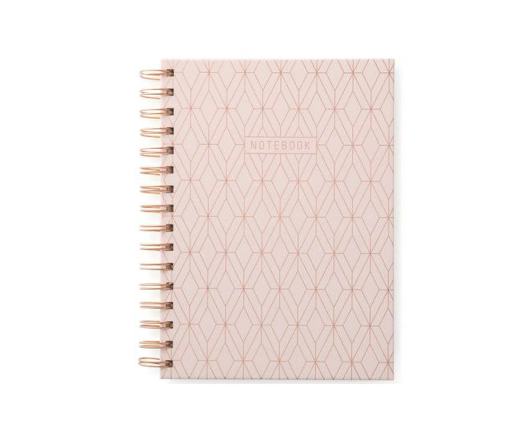 Copper Geo Pink Notebook