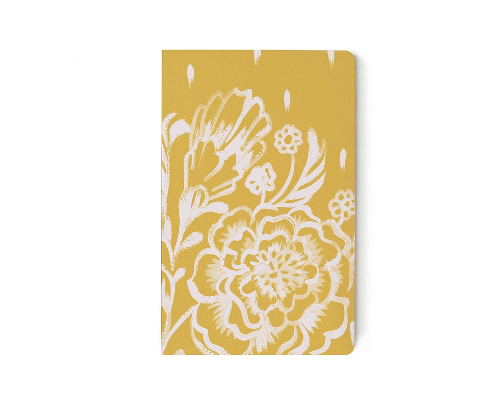 Mustard Floral layflat Notebook
