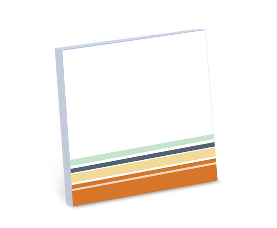 Blank Stripe Sticky Notes