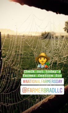 Featured for #nationalFarmerDay on BigR stores' instagram