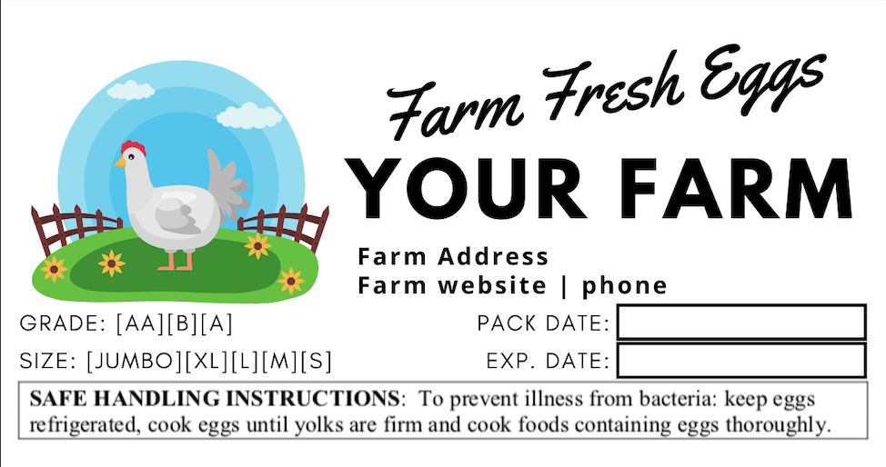 Free Customizable Farm Fresh Egg Carton Labels