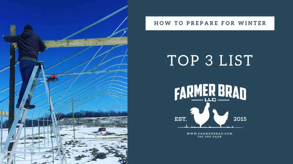 Top 3 List: How to prepare for Winter.