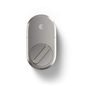 august Smart Lock + Connect, Satin Nickel  Satin Nickel