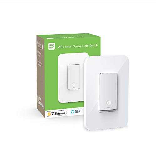 Wemo Wi-Fi Light Switch, 3-Way - Control Lighting from Anywhere, Easy in-Wall Installation, Works with Alexa, Google Assistant and Apple HomeKit (WLS0403) - Farmer Brad LLC