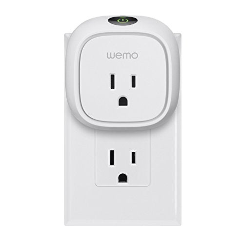 Wemo Insight Smart Plug with Energy Monitoring, Wi-Fi Enabled, Control Your  Devices and Manage Energy Costs From Anywhere, Works with Alexa and Google