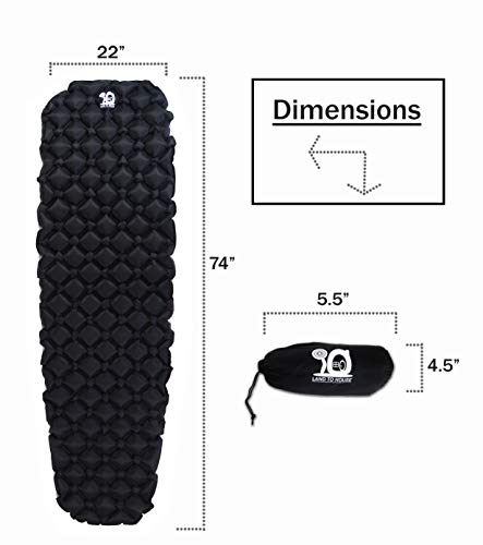 Land To House llc Ultralight Sleeping Pad Air Cushion Diamond Design for Backpacking and Camping - Farmer Brad LLC