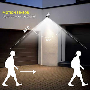 Fitfirst Motion Sensor Security Light Outdoor Rechargeable Battery Powered, Waterproof - Farmer Brad LLC