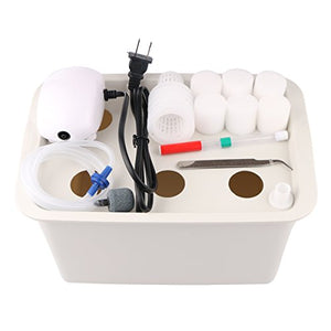 Aunifun Hydroponics Grower Kit DIY Self Watering Indoor Hydroponics Tools DWC Hydroponic System Planting Container Include Aquarium Air Pump Buoy Planting Box - Farmer Brad LLC