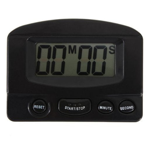 Mokingtop® Mini LCD Digital Kitchen Timer Count up Down Magnetic Electronic Alarm Cooking (Black) - Farmer Brad LLC