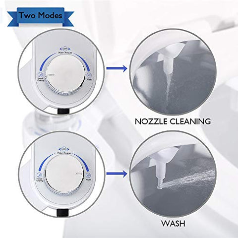 Tibbers Home Bidet, Self-Cleaning and Retractable Nozzle, Fresh Water Spray Non-Electric Mechanical Bidet Toilet Seat Attachment, Reduce Toilet Paper - Farmer Brad LLC