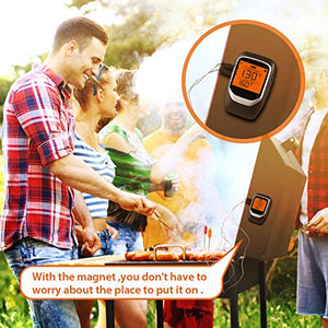 Digital Meat Thermometer, Wireless Bluetooth APP-Controlled BBQ Cooking Thermometer with 2 Stainless Steel Probes - Farmer Brad LLC