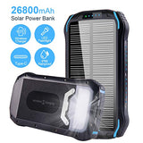 Solar Charger 26800mAh Qi Wireless Portable Solar Power Bank with LED Flashlight - Farmer Brad LLC