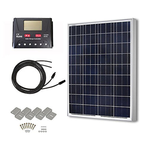 100 Watts 12 Volts Polycrystalline Solar Panel Off-Grid - Farmer Brad LLC