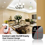 eMylo Smart Wifi Relay Switches Wireless 433Mhz RF Remote Control Light Switch Timer Controller For Household Appliance Compatible with Alexa, Google Home AC 90V-250V 2 Channels - Farmer Brad LLC