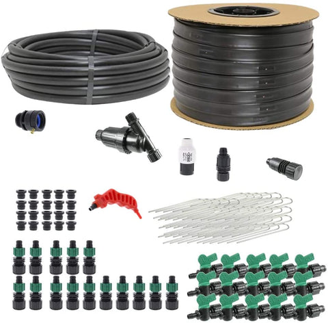 Drip Tape Irrigation Kit for Small Farms Water up to 15 Rows