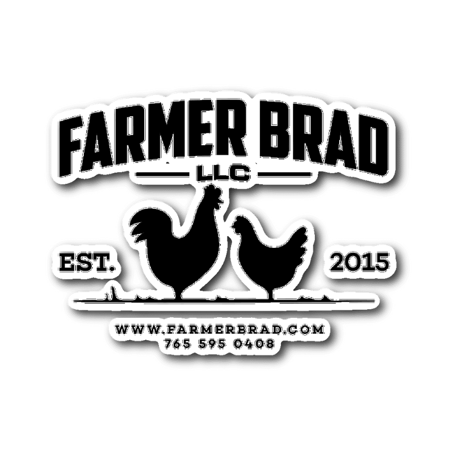 Farmer Brad Logo Sticker - Farmer Brad LLC