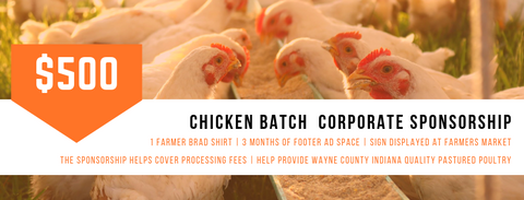Chicken Batch Corporate Sponsorship - Farmer Brad LLC