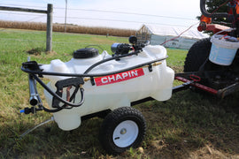 Chapin International 97700 12-volt EZ Tow Dripless Sprayer, 25 gallons, Translucent White - Farmer Brad LLC