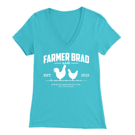 OFFICIAL FARMER BRAD (Bella Womens V-Neck) - Farmer Brad LLC