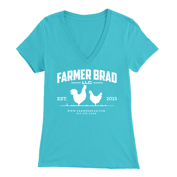 OFFICIAL FARMER BRAD (Bella Womens V-Neck)