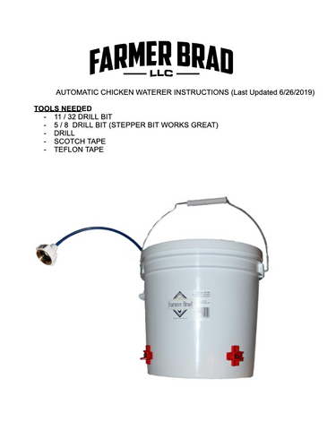 How to make Automatic Chicken Waterer - Farmer Brad LLC