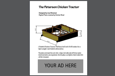 Chicken Tractor Plans Sponsor Ad - Farmer Brad LLC
