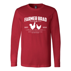OFFICIAL FARMER BRAD (Canvas Long Sleeve Shirt) - Farmer Brad LLC