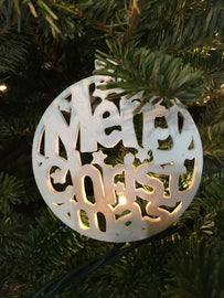 Merry Christmas Ornament - Farmer Brad LLC