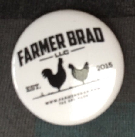 "Farmer Brad 1.5"" button - Farmer Brad LLC"