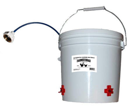 Automatic Chicken Waterer 2 Gallon BPA Free by Farmer Brad GF-001   Chicken Waterer