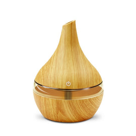 300ML USB Electric Aroma Air Diffuser Wood Ultrasonic Air Humidifier Essential Oil Aromatherapy Cool Mist Maker For Home - Farmer Brad LLC