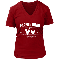 OFFICIAL FARMER BRAD (District Womens V-Neck) - Farmer Brad LLC