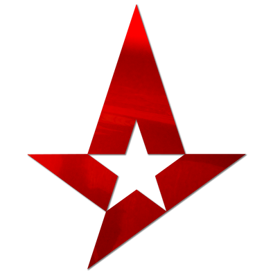 Astralis sticker - Red Chrome (large)