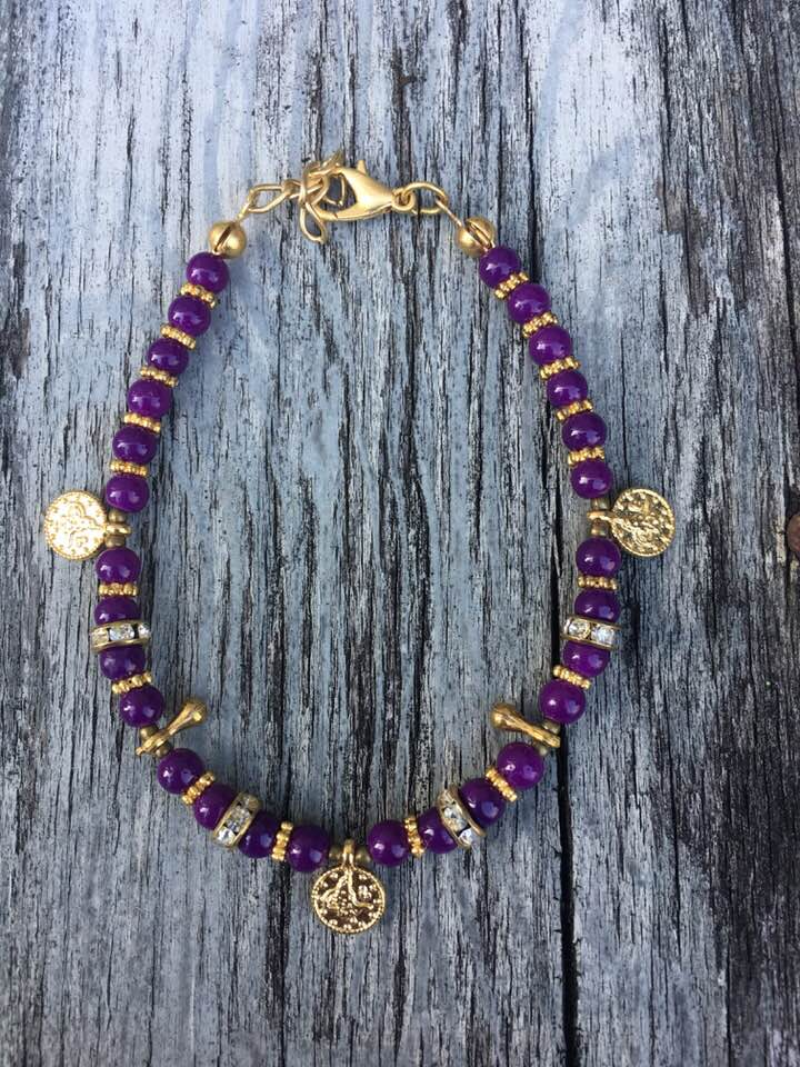 Purple Coin Charm