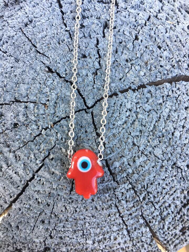 Red Evil Eye Hamsa
