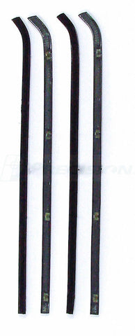 64-66 Chevy/GMC Truck Door Black Beltline Weatherstrip Window 4-PC Seal Kit