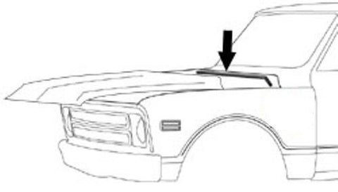 67-72 Chevy/GMC Truck Hood to Cowl Seal Rubber
