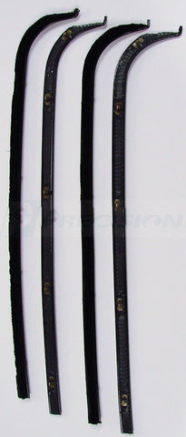 67-70 Ford F-100 Truck Door Black Beltline Weatherstrip Window 4-PC Seal Kit