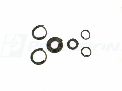 47-54 Chevy/GMC Truck Back Rear 3 Window Glass Gasket Rubber Seal w/ Black Trim