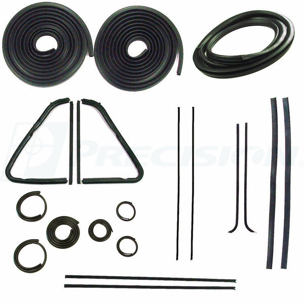 54-55 Chevy Truck Complete 5-Window Kit Door Gaskets Glass Weatherstrip Beltline